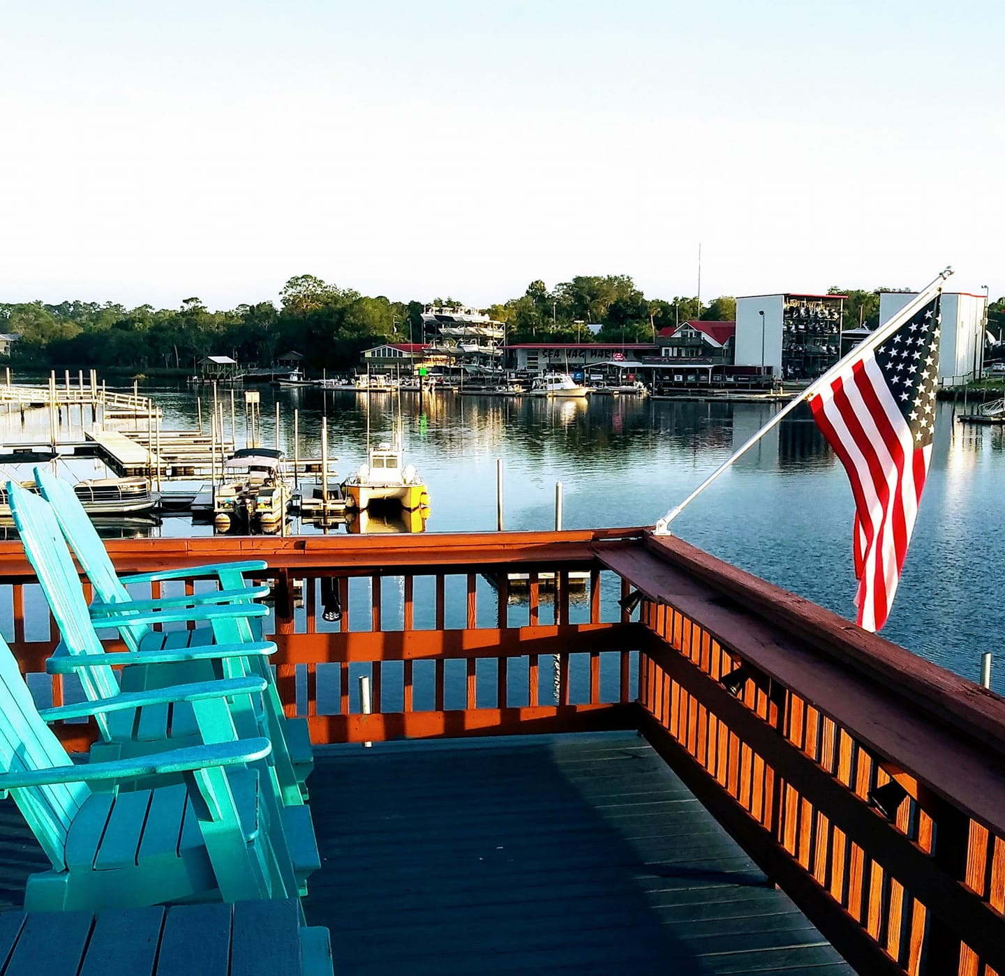 Deck overlooking the Steinhatchee River